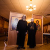 Dr. Alf Kentigern Paul Siewers and Archpriest Claude Vinyard stand inside The Lewisburg Club where they will have Christmas service for the Most Holy Theotokos Russian Orthodox Mission Church.