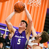 Shamokin's Matt Schiccatano shoots against Danville's Peyton Riley during Thursday night's game.