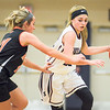 Shikellamy's Tori Scheller tries to dribble by Milton's Taylor Snyder during Saturday's game in Sunbury.