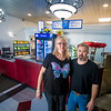 Shane and Kelly Erb owners of the stand inside the restaurant's lobby.