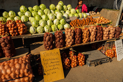 Open air produce market, Baikonur.