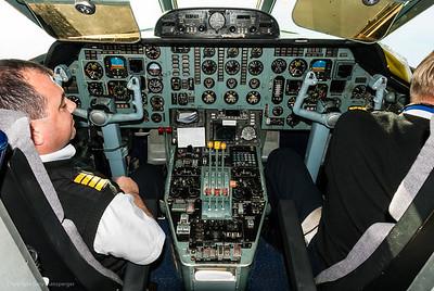 Flight deck of YAK Russian Charter Airline.