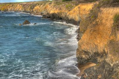 Cliffs south of Pidgen Point, CA