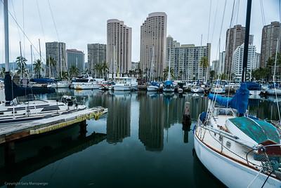 Waikiki boat harbor