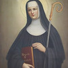 """St. Scholastia"" painting by Sister Gregory Ems, OSB"