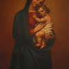 """Madonna and Child"" painting by Sister Gregory Ems, OSB"