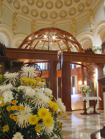 Inside the monastery church