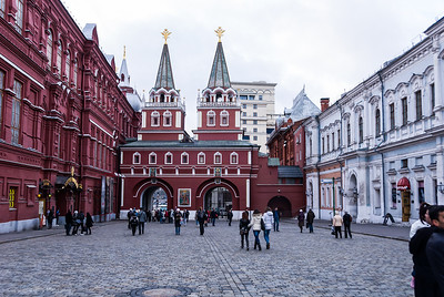 Resurrection Gate and Iberian Chapel, Red Square Moscow