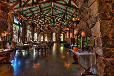 The fabled Ahwahnee Dinning Room