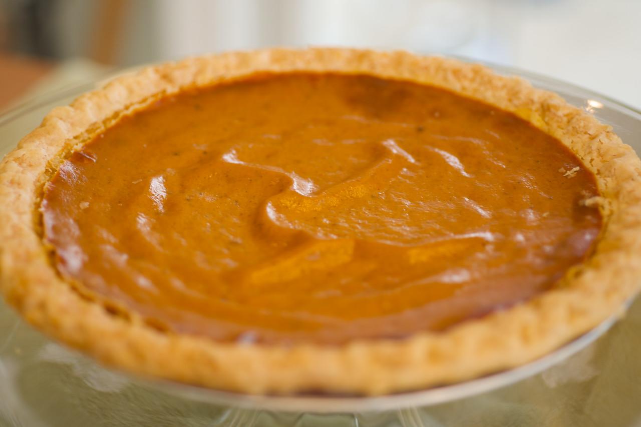 Thanksgiving pumpkin pie. One of the world's truest pleasures.