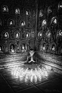 Candle-lit Monk