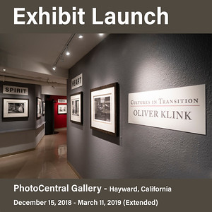 Exhibit at PhotoCentral Gallery (Dec 15, 2018 - March 3, 2019)