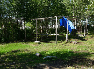Gathering area, Webequie First Nation.