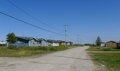 Modern houses, Webequie First Nation.