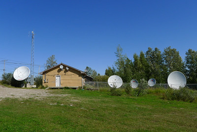 Communications building, Webequie First Nation.
