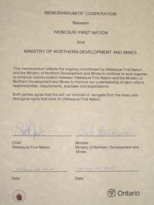 The Memorandum of Cooperation.