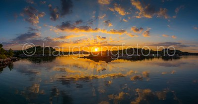 Solnedgang over Lerøy