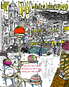 WINTER WONDERLAND ART WALK IN LITTLE ITALY - POSTER DESIGN - TARA SEIBEL