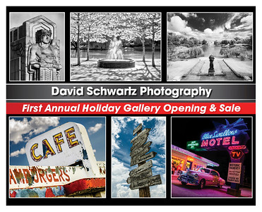 """Artist Reception Party,  December 6th 6-10pm 2025 Random Rd. Cleveland Ohio (Little Italy) David will be showing his ever growing bodies of work  """"Pics On Route 66"""" and """"Romantic Image of Wade Lagoon."""