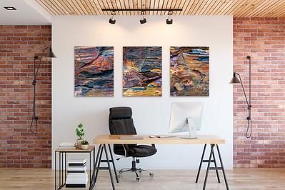 Bildserie Steinstrukturen für Büro