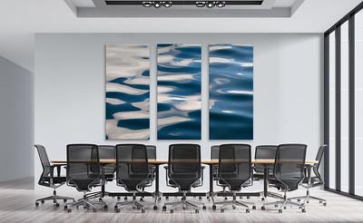Ruhiges Wellenmotiv für einen Konferenzraum