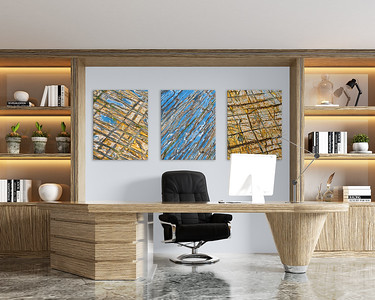 Bildserie mit abstrakten Steinstrukturen für Ihr Büro