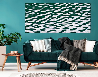 Ruhige Wellenmuster in Grün für Ihr Wohnzimmer