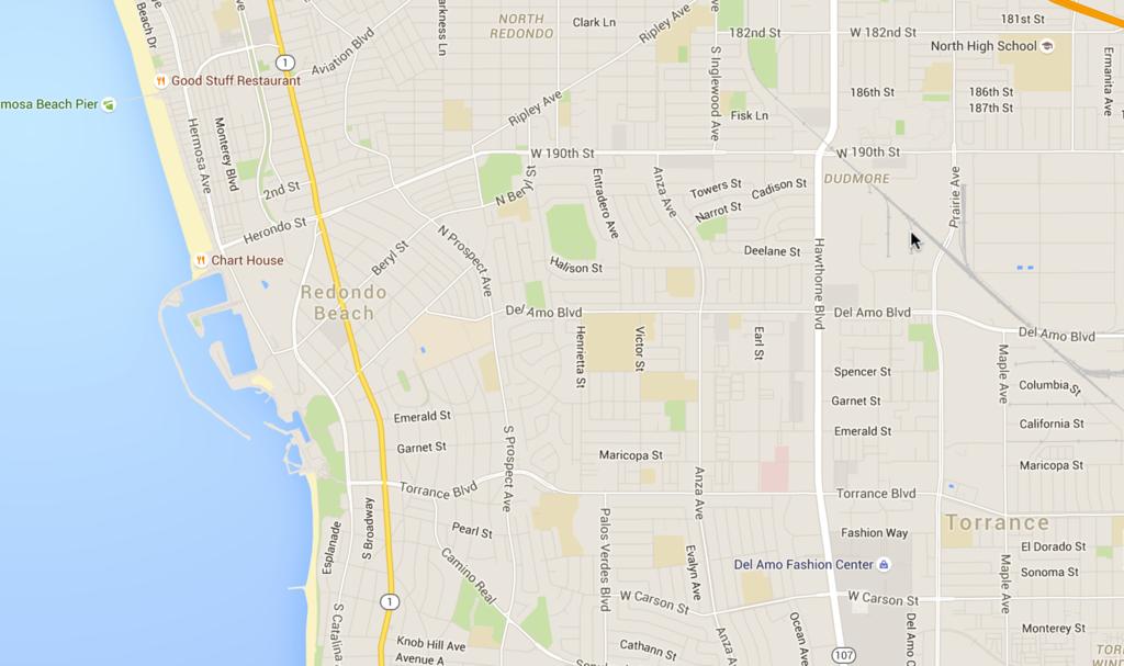 Map of Redondo Beach