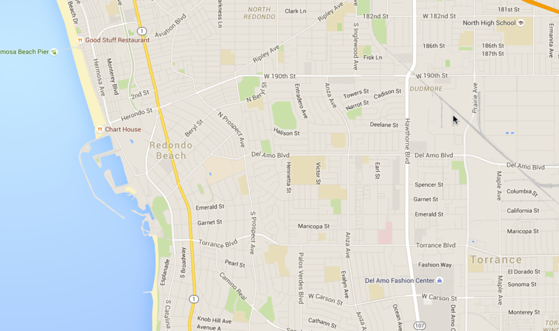 Map of Redondo Beach