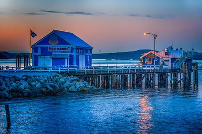 Sunset  Over Satellite Fish Co. Ltd.