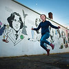 "Grace Carroll (cq) senior pictures. Senior at Cleveland High School with MacKenzie Broderick and Ariana Stewart. Photographed with Oscar Wilde and the rest of the mural at SE 33rd. and Hawthorne Tuesday 11/20/12.  © 2012 Fred Joe /  <a href=""http://www.fredjoephoto.com"">http://www.fredjoephoto.com</a>"