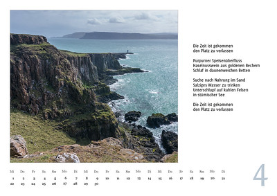 """Foto-Lyrik-Kalender 2020 """"An der Küste von Grünland"""" April"""
