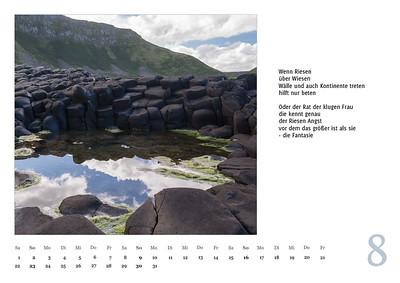 """Foto-Lyrik-Kalender 2020 """"An der Küste von Grünland"""" August"""