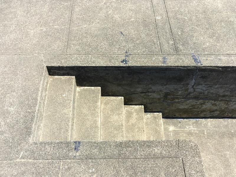 Concrete steps at Fort Flagler State Park, WA USA