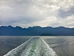Howe Sound ferry wake, BC Canada