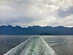 Howe Sound ferry wake, BC Canada
