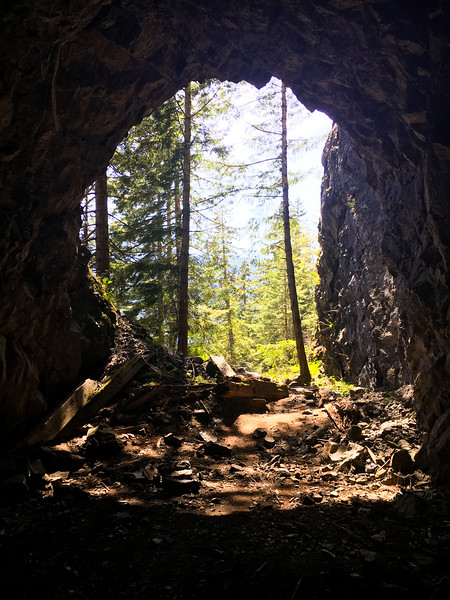Spruce Railroad Tunnel, Lake Crescent, Olympic NP, WA