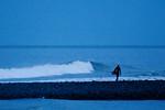 Surfer at dusk, Washington State