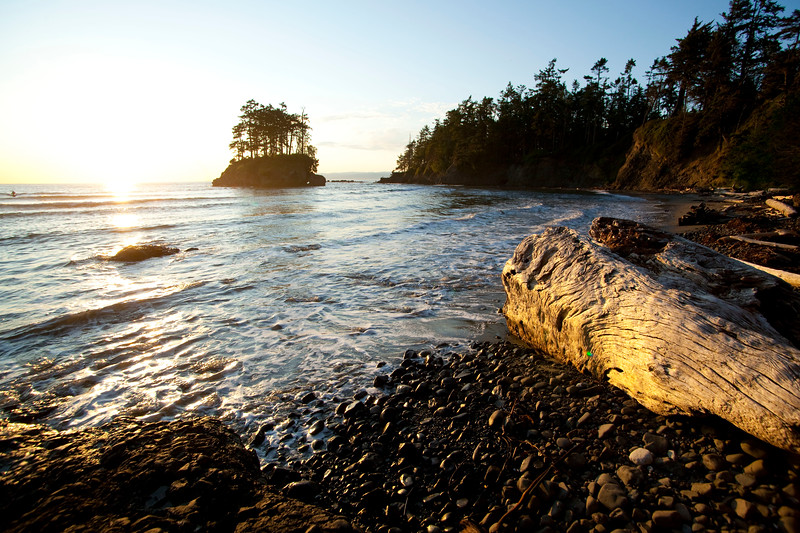 Sea stack on Crescent Beach, Salt Creek Rec Area, WA USA