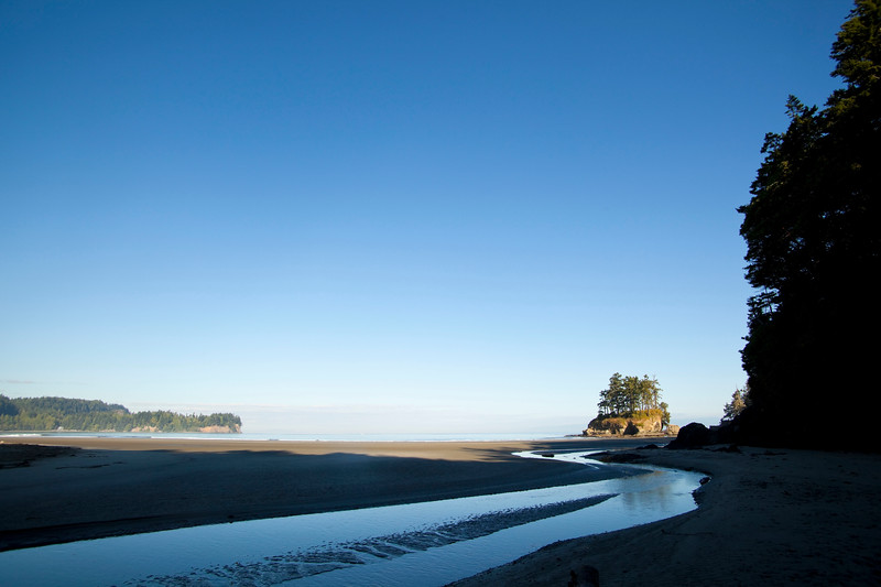 Sea stack on Crescent Beach, Salt Creek Rec Area, WA USA