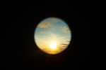 Sunset through telescope