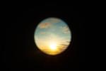 Sunset through telescope