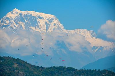 Skydivers Annapurna