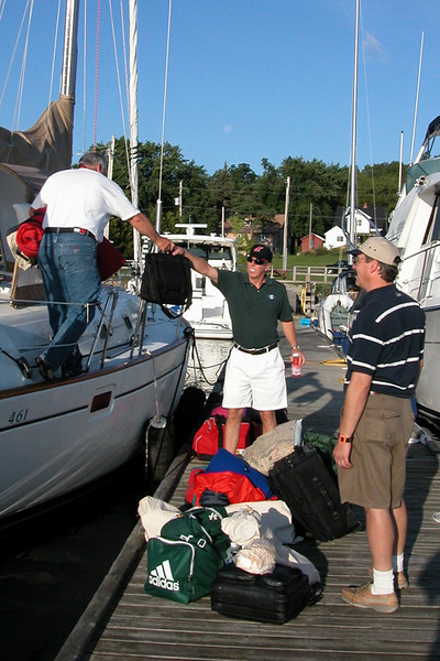 Gore Bay crew change.  One crew member brought hard luggage - idiot.