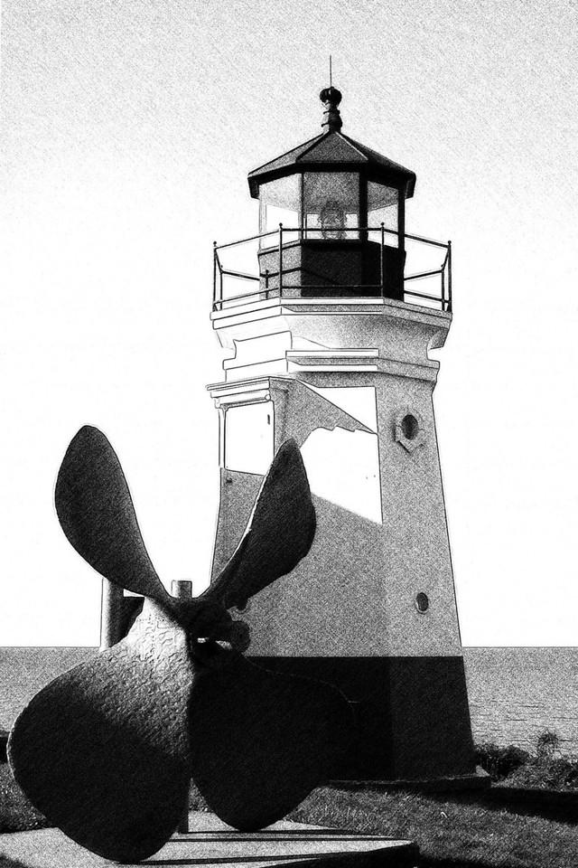 Replica of 1877 Vermilion Light