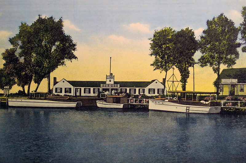 VYC clubhouse looking west from Ontario Lagoon in 1930's