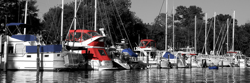 Our boat basin has strong permanent docks, slips are assigned by boat color