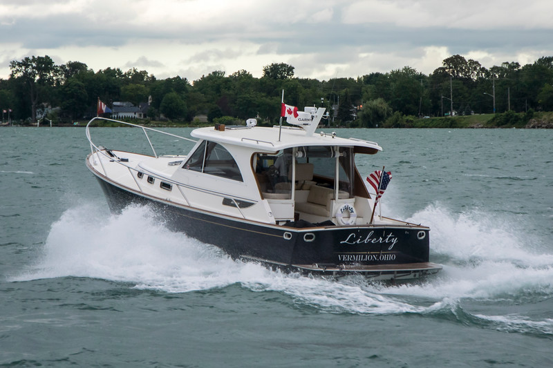 1999 PC Jim Karpinski aboard Liberty in Detroit River, July 2017
