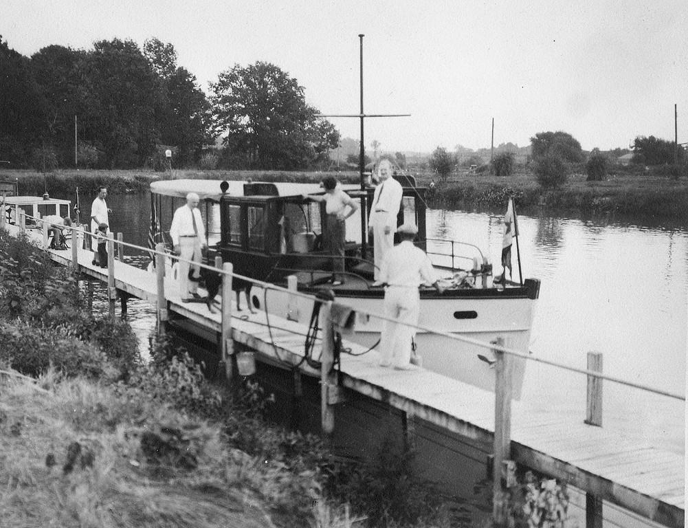 "Homer Havermale's ""Inez"" at new VYC docks, 1933"