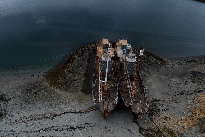 stranded ships